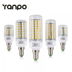 Ranpo 1PCS E14  220V LED Lamps SMD 5730 Corn Light LED Bulb 24-165LEDs Lamparas Chandelier Bombillas Candle Lighting for Home