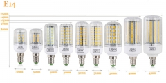 Ranpo New Arrival E14 LED Corn Bulb 220V SMD 5730 LED Lamp 24 30 42 64 80 89 108 136 165Leds Chandelier Spotlight for indoor lighting