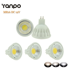 5pcs/lots LED COB Spotlight Dimmable 15W MR16 DC 12V Bulb Lamp Lighting Warm Cool Natural White High Power