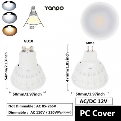 Dimmable MR16 15W LED Spot Light Bulbs DC12V 50W Incandescent Lamp