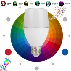 RANPO Speaker Blue tooth Bulbs E27 LED RGB Light Music Bulb Lamp Color Changing Via WiFi App Control MP3 Player Wreless 110V 220V