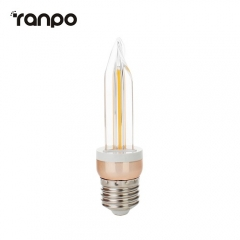 RANPO E27 Vintage LED Edison Light Bulb 5W Retro Filament Warm White 220V Lamp