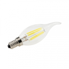 RANPO 5X Retro E14 ES LED Edison Filament Bulb 2W 4W 6W Flame Candle Light Lamp AC 220 V Lighting Glass