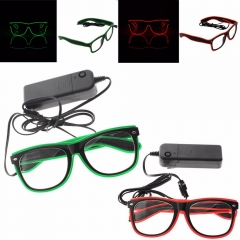 RANPO LED Eyewear Shades EL Wire Glasses Light Up Glow Colorful Costume For Nightclub Party Hot