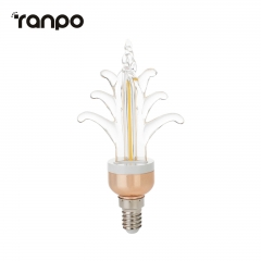 RANPO E14 Vintage LED Edison Light Bulb 5W Retro Filament Warm White 220V Lamp
