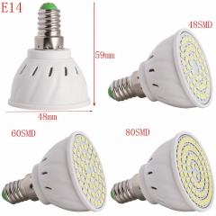 RANPO New Led Light Lamps E27/E14/GU10/MR16 LED Lamp Spotlight 6/9/12W 220V High Lumen 2835 SMD 48/60/80 LEDs Bulbs Light Warm/Cool