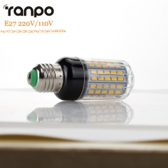 RANPO E27 LED Corn Lamp 5730 SMD LED Bulb Lights AC 220V 110V 24 27 30 36 56 59 69 72 96 108 Leds Lampada led Chandelier Lighting