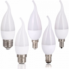 RANPO 3W LED Flame Chandelier Candle E12 E26 E14 B22 E27 Light Bulb 2835SMD White Lamp 1PCS Leds Bulbs Warm/Natural/Cool White Lampada