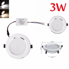 Ranpo 4Pcs/Set Led Downlight Ceiling Lamp Lighting AC85-265V 3W 5W 7W 9W 12W 15W 18W Super Bright LED Panel Light Warm/Cool/White