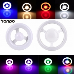 E27 LED Circular Tube LED light Ring Lamp AC220V Steering Wheel Led Lamparas 12W 24W Ceiling Lights For Home Decor Lamps Colors