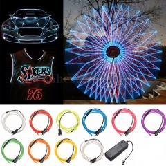 Ranpo Neon Light 1M EL Light Flexible Neon lamps EL Wire Rope Tube Waterproof LED Strip With Controller Car Dance Party Decor TV Light