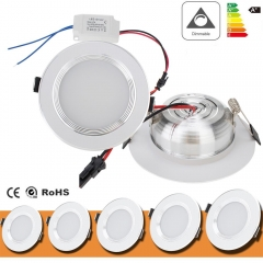 Dimmable LED Recessed Ceiling Panel Down Light Fixture 3W 5W 7W 9W 12W Bulb Lamp