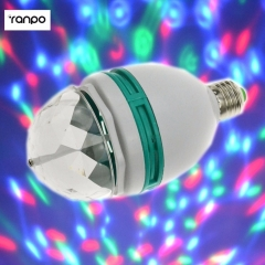 Ranpo E27 3W RGB LED Spot Light Bulb Colorful Rotating high power Lamp for home Party