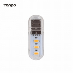 Ranpo 1PCS Mini USB  Night Lights Camping lamp 3Leds 8Leds Desk Bulbs Mobile PC Power  Notebook Reading Light 5730SMD Lighting