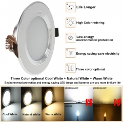 Ranpo Dimmable LED Recessed Ceiling Panel Down Light Fixture 3W 5W 7W 9W 12W Bulb Lamp