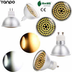 Ranpo Dimmable LED Spotlight Bulbs GU10 MR16 5W 74LEDS 2835 SMD 220V Light Lamp Bright Corn Spot Lighting For Home Decor