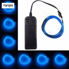 1M 2M 3M 4M 5M Dark Blue Flexible Neon Rope Tube EL Wire + AA Battery Pack Controller For Decoration Indoor