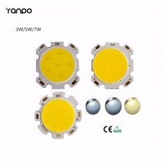 Ranpo High Power 20PCS/Lot 3W 5W 7W COB LED Chip With Star  White Light Warm/Cool/Natural LED Spotlight Free Shipping