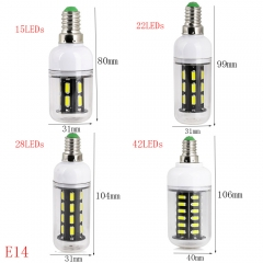 Ranpo E27 E14 LED Light Bulb 7030 SMD LED Corn Bulb SMART IC Chip Control Power Longer Life 9W 12W 15W 24W 220V LED Spotlights