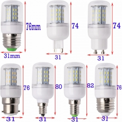 Ranpo Super Bright Dimmable E12 E14 E27 GU10 G9 B22 LED Corn Bulb SMD 5730/4014 Lamp 9W 12W 15W 35W Lighting Lamps Warm/Cool White Led