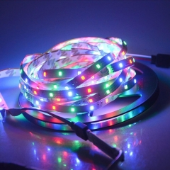 Ranpo New Hot 5M Waterproof rgb led strip 2835SMD LED Strip Tape Flexible Xmas White Light +IR Remote luces de navidad RGB lampada