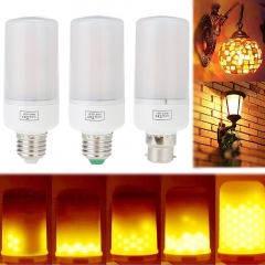 Ranpo LED Burning Flicker Flame Effect Fire Light Bulb E27 E26 E14 E12 B22 Decorative Lamp AC 85-265V Yellow 1800-2200K Lighting
