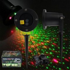 RANPO Waterproof 5W RGB AC 85-265V Moving Projector Laser LED Garden Christmas Light Stage Light Outdoor