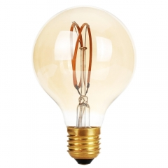 Ranpo Dimmable E27 Edison Led Filament Bulb G80 AC 220V Global light bulb 4W Cear Glass Indoor Lamp Candle Lighting For Home Decor