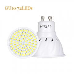 Ranpo Factory Price LED Spotlight GU10 Led Lamp 110V 220V DC 12V 24V 2835SMD 36Leds 54Leds 72Leds Cool /Warm/Neutral White LED Bulb