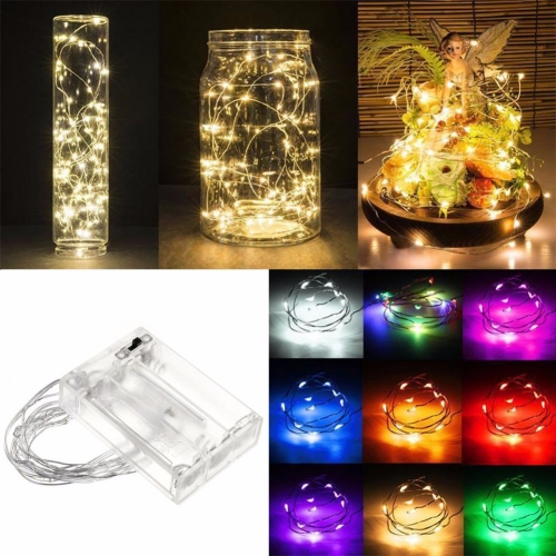 RANPO Luces de Navidad 3M/30 5M/50 10M 100Led Lampada Christmas Holiday Wedding Party Decoration LED Copper Wire String Lights Lamps
