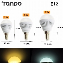 Ranpo Mini LED Spot Bulbs Lights E14 E27 B22 E12 LED Global Light Bulb 2835 SMD Lamp 3W 5W 7W AC 220V 110V For Home Lighting