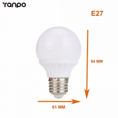 Ranpo E27 Dimmable Led Bulb Lamps B22 Bayonet 2835 SMD AC 220V LED Globe Light Bulb Lamp 3W 5W Warm Cool White Home Lighting Decor