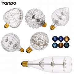 Ranpo E27 Filament Bulb Antique Retro Vintage Edison Light Bulbs Lamp AC 220V G125 G95 Candle Lights Lamparada Warm White Colorful