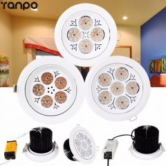 1Pcs 30W 35W 40W 220V LED Ceiling Downlight Recessed LED Wall Lamp Spot light With LED Driver For the Mall