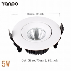 Ranpo Recessed COB LED Ceiling Light Downlight Bulb 5W 12W 18W 24W 30W Lighting Lamp Neutral/Warm /Cool White Free Shipping