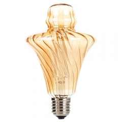 Ranpo Dimmable Edison bulb LED E27 Straw Hat LED Filament 4W 220V-240V Home Decor Bulbs Vintage Light bulb Antique Bulb Candle Lamp