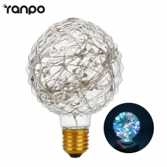 Ranpo E27 Led String Lights Edison Light Vintage Bubble Ball Bulb Energy Saving Lamp Ampoules Decoratives For Home Lighting