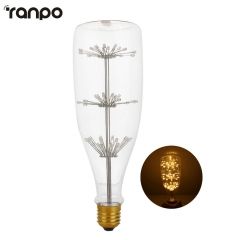 Ranpo E27 2W LED Bulb Filament Not Dimmable Edison Vintage Candle Lights Lamp Warm White 2200K AC 220-240V Lighting  Home Decor