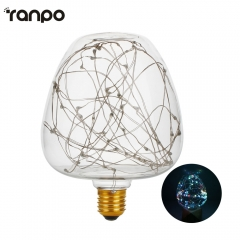 Ranpo E27 Led bulb Apple rgb led lamp 2w globe Firework light bulb AC 220V-240V led string light lampada for home decor & gift lamps