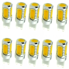 Ranpo 10X Wholesale G4 G9 8W LED COB Capsule Lighting Bulbs Lamps White 240V DC 12 V Replace Holgen Spotlight Chandelier Lampada