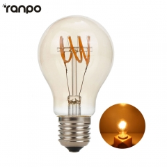 Ranpo Led Lamp E27 Tube bulb 220v light Bulbs 4w Retro Edison Filament For Home Decor Power Led Energy Saving Lampade