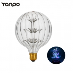 Ranpo Vintage 3W E27 Incandescent Edison Globe Light Bulb Clear Glass Tungsten Filament Lamp 220V-240V Colorful Lighting