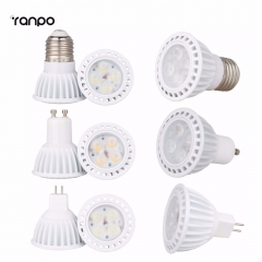Ranpo Smart IC Dimmable 8W 3030 SMD LED SpotLights E26 E27 GU10 MR16 Bulbs Ceiling Lamp AC 110V 220V DC 12V High Power Recessed Light
