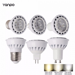 Ranpo High Power 3030 SMD LED SpotLights E26 E27 GU10 MR16 12W Bulbs Ceiling Lamp DC 12V AC85-265V Down Light Lampada Warm/Cold White