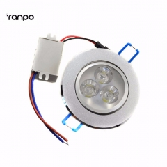 Ranpo 10 pcs Dimmable 3W LED Ceiling Recessed Spotlight Downlight Fixture Lamp Spot Pendant Lights Bulb + Driver Cold Warm White Home
