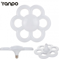 Ranpo E27 35W LED Bulb Plum Blossom Ring Light Downlight Lamp AC 220V Super Bright Ceiling Lights For Home Decor Lamps Warm Cool White 220V