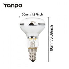 Ranpo Vintage Retro R50 LED Spotlight Reflector Filament Light COB Bulb 30W Equivalent