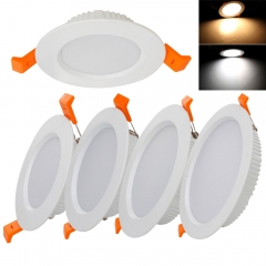RANPO Round Recessed LED Ceiling Light Fixture Down Lights Cool Warm White Bulb 7W 9W 12W 18W 24W 30W Lighting Lamps AC 85-265V + Driver