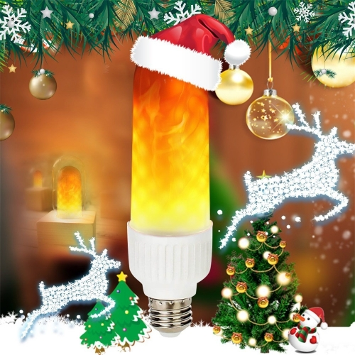Ranpo LED Flame Flicker Simulated Nature Fire Light Bulbs E26 E27 B22 6W Decor Lamp