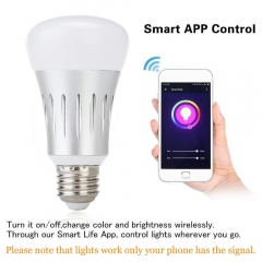 Ranpo Smart Wifi RGB Light Bulb Wireless RGBW LED Home Lamp Dimmable E27 5W AC 85-265V